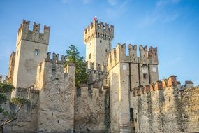Scaliger Castle is located in the Italian lakeside town of Sirmione