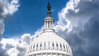 dome of capitol at scenic sky, usa, washington dc