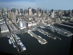 new york city manhattan port cityscape view