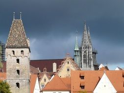 metzgerturm, top of Butchers Tower in old city, germany, ulm