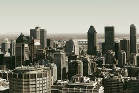 top view of downtown, canada, montreal