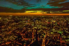 panorama london city beautiful sky night view
