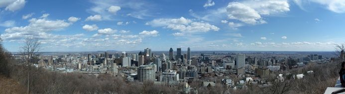 city town building montreal panorama cloud sky view