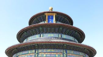 temple of heaven roof at sky, china, beijing