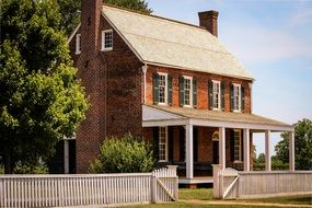 appomattox court house red brick building