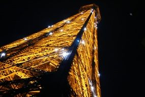 eiffel tower lights at night, france, paris