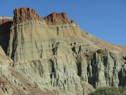 scenic cathedral rock at sky, usa, oregon, John Day Fossil Beds National Monument