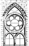gothic cathedral window, drawing