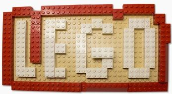 lego, lettering from toy building blocks
