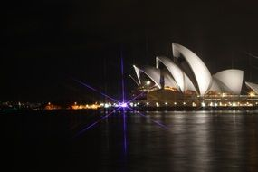 embankment opera house sydney australia night view