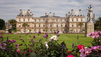 luxembourg palace at summer, france, paris