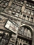 grunge facade of old building, germany, berlin