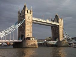 tower bridge at cloudy sky, uk, england, london