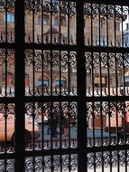 wrought iron gate before town hall, switzerland, basel