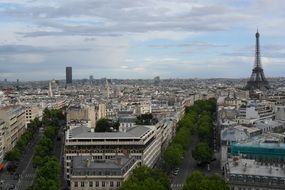 paris city panorama france