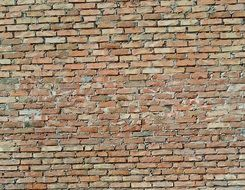 old red bricks, wall, background