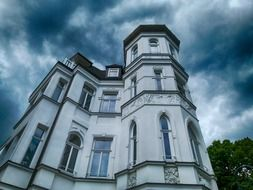 old house at cloudy sky, germany, binz