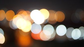 night light, bokeh on blurred background