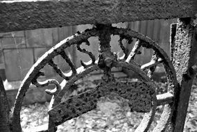 metalwork in the cemetery