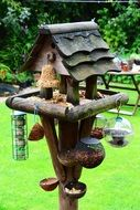 Unusual bird house table
