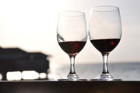 wine in two glasses