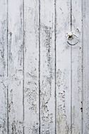weathered painted wooden gate