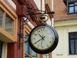 antique Round Wall Hanging clock in old town