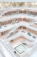 interior of library, germany, stuttgart