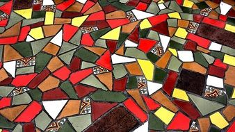 Colorful ceramic tile
