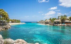 perfect blue lagoon willemstad curacao tropical