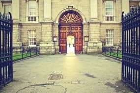 anciend gateway of trinity college, uk, ireland, dublin