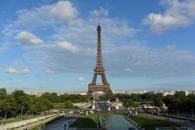 eiffel tower summer
