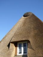 thatched roof window northern germany