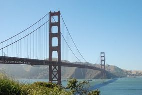 architecture design of the Golden Gate Bridge in San Francisco