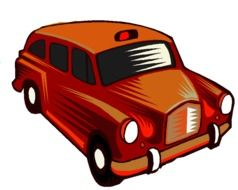 red london taxi cab, illustration