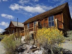 old wooden buildings of ghost town, usa, california, bodie