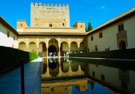 The architectural ensemble of the Alhambra Granada Spain