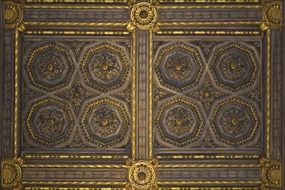 wooden ceiling decoration, detail, spain, murcia