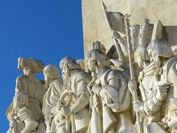 monument of the discoveries, fragment, portugal, lisbon
