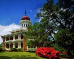 longwood mansion in park, the largest octagonal house in America, usa, mississippi, natchez