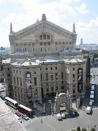 View of the Opera Garnier from the rooftop, france, paris