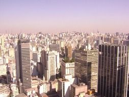 roof view of city, brazil, sao paulo