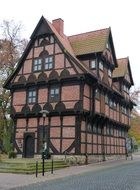 old picturesque truss building, germany, stadthagen