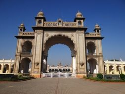 mysore palace gate India architecture