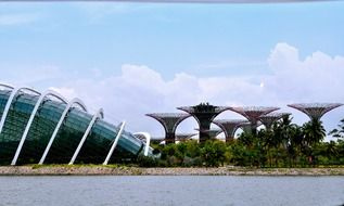 Gardens by the Bay at sky, singapore