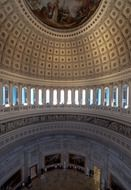 beautiful interior of capitol building, usa, washington dc