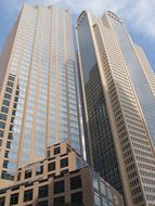high rise office buildings in downtown, usa, texas, dallas