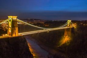 beautiful night view bristol bridge