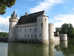 Chateau Sully in the Loire River valley in France
