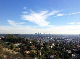 distant view of city, usa, california, los angeles